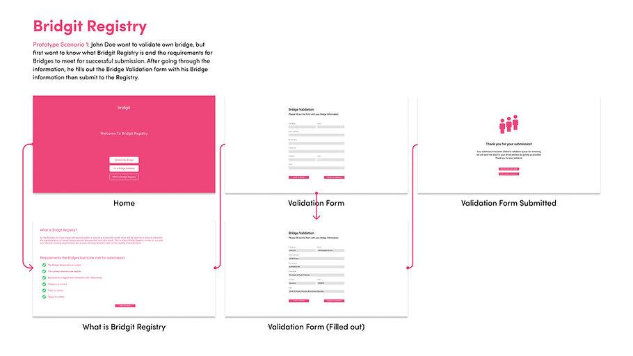 Bridgit Registry Prototype Scenario 1