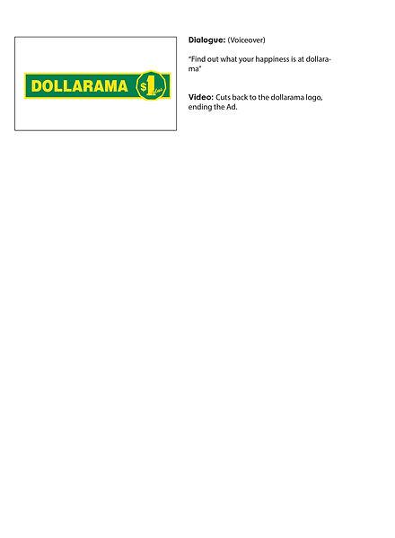 Dollarama TV Ad Storyboard Part 3
