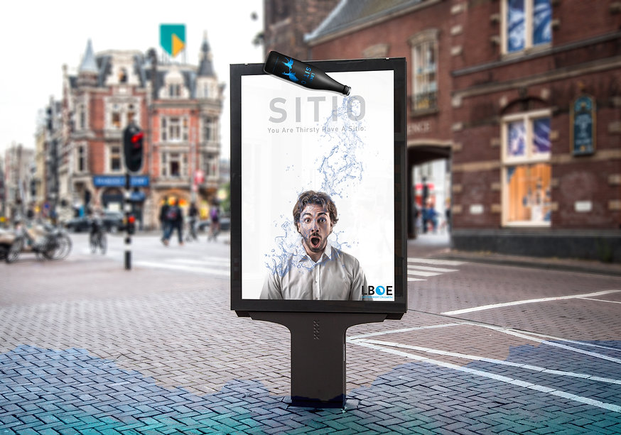 Sitio Poster and Ambient Ad in streets