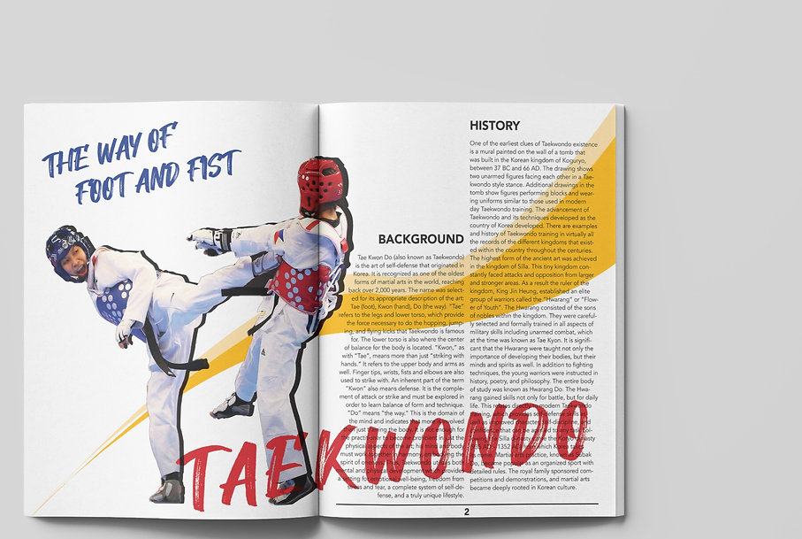 The Way of Foot and Fist Magazine Spread 1