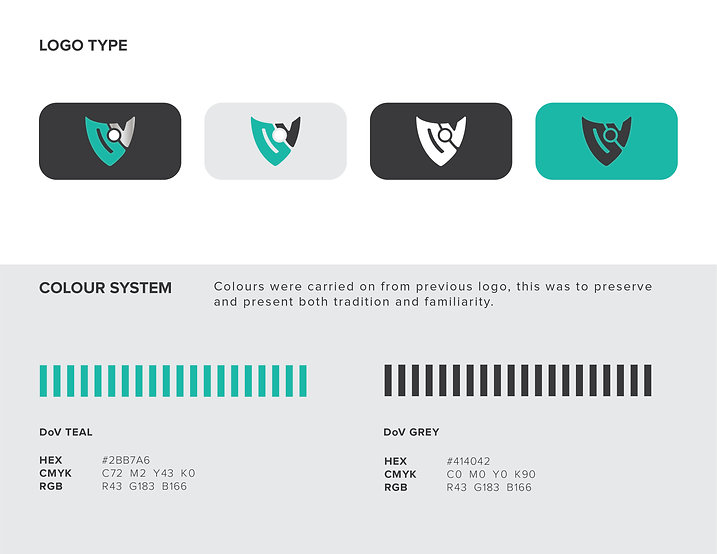 DoV Logo Types and Colour System