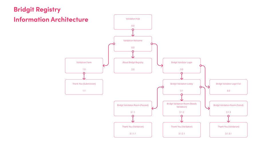 Bridgit Registry Information Architecture