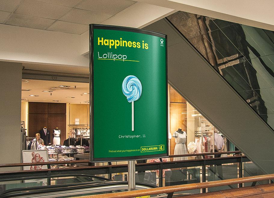 Dollarama Ad In Mall