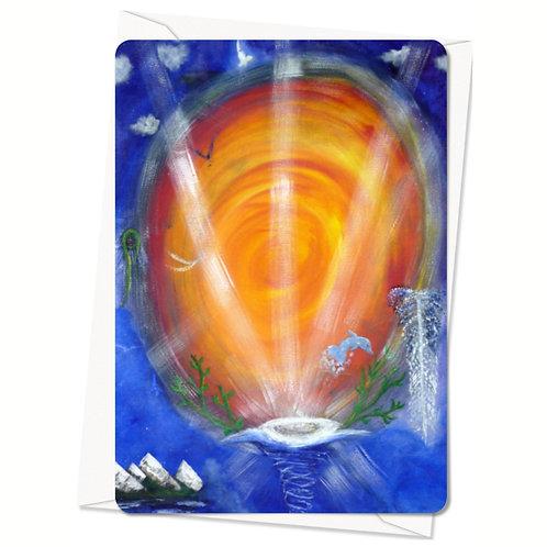 Postkaart Well of Light