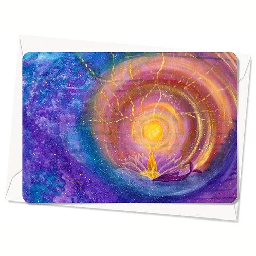 Postkaart Vortex of Light