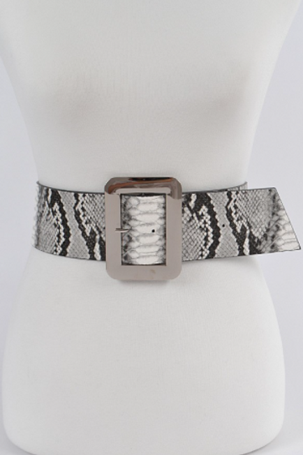 CHIC SNACKSKIN WIDE WAIST BELT