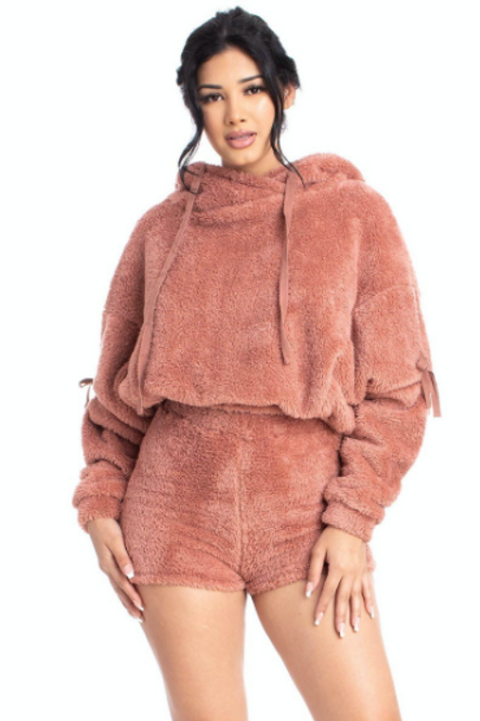 """""""CUFFIN SEASON"""" SWEATER TOP AND SHORT SET"""