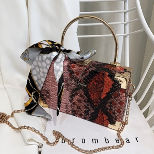 Gator Inspired Print Chain Crossbody Bag