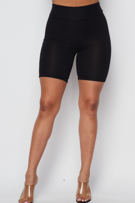 PERFECT FIT HIGH-WAIST BIKER SHORTS