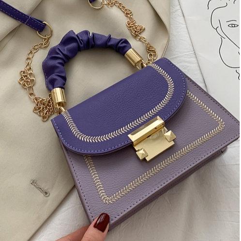 Patched Purple Mini Crossbody Bag
