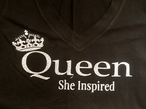 """QUEEN SHE INSPIRED"" & ""QUEEN IN TRAINING"" MOMMY & ME T-SHIRT"