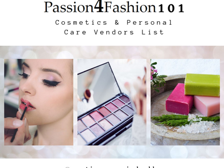 COSMETICS & PERSONAL CARE VENDOR LIST