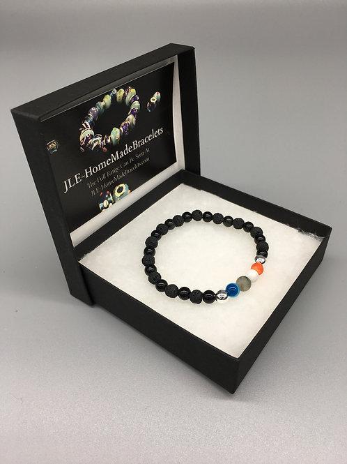 6mm Black Mixed Lava & Obsidian Healing Bracelet