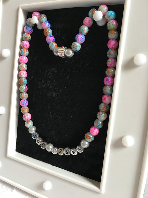 ID Necklace Marble Effect