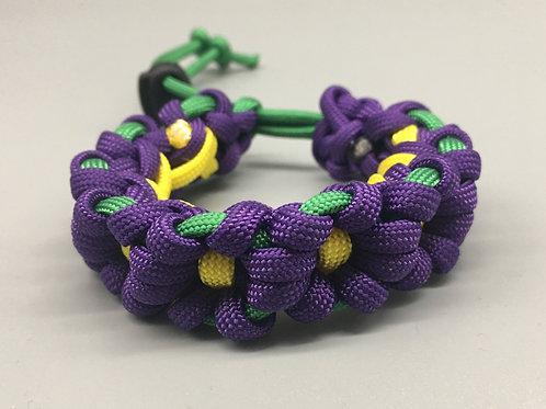Purple Flower Chain Paracord Bracelet women's