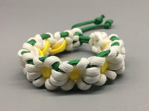 White Flower Chain Paracord Bracelet women's