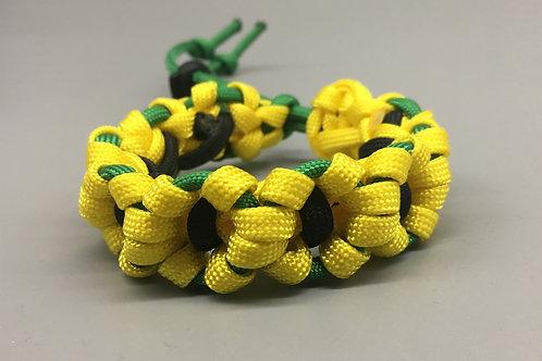 Yellow Flower Chain Paracord Bracelet women's