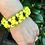 Thumbnail: Yellow Flower Chain Paracord Bracelet women's