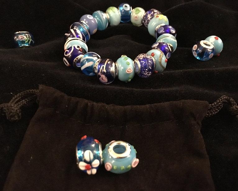 Blue Murano Styled home made bracelet