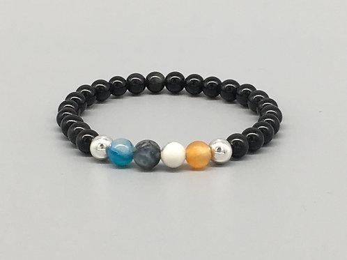 6mm Black Obsidian Healing Bracelet