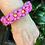 Thumbnail: Pink Flower Chain Paracord Bracelet women's