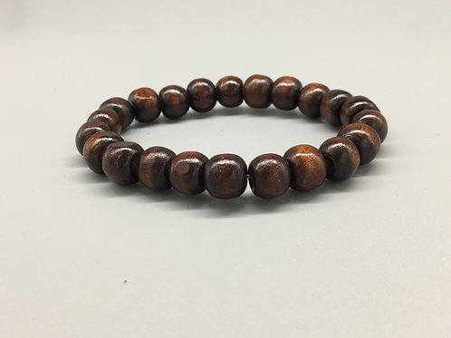 Light Weight Dark Wooden Beaded Bracelet