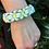 Thumbnail: White Flower Chain Paracord Bracelet women's