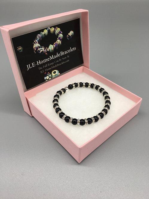 6mm Healing Dimontie Obsidian Bracelet.