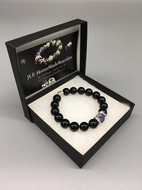 10mm Healing Onyx Bracelet Single Purple Agate.