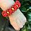 Thumbnail: Red Flower Chain Paracord Bracelet women's