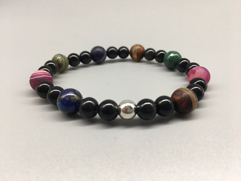 8mm Agate 6mm Obsidian Mixed