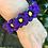Thumbnail: Purple Flower Chain Paracord Bracelet women's