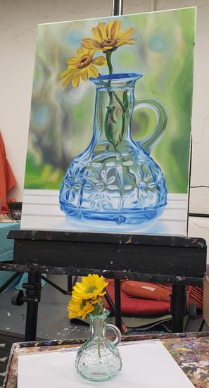 Blue Vase with mini 2019