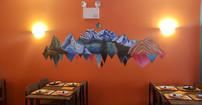 Floating Peruvian Mountains Mural