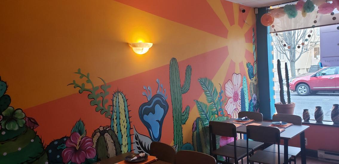 Sunny Cactus Mural 2019