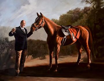 Tony Soprano Horse Painting