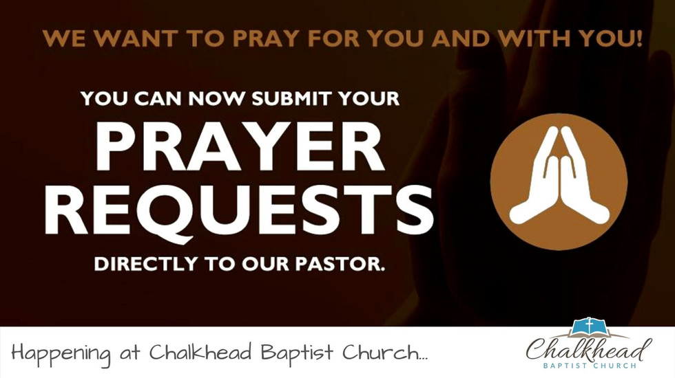 WE WANT TO PRAY FOR YOU AND WITH YOU!
