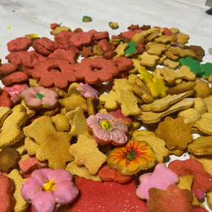 GOURMET DOG TREATS and CAKES - Made from fresh, healthy ingredients!  Call (334) 316-0054 to place an order!