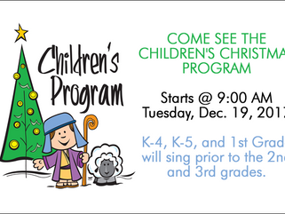 CHILDREN'S CHRISTMAS PROGRAM NOW ON YOUTUBE