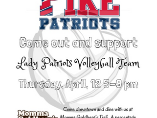Come out and support the Lady Patriots Volleyball Team