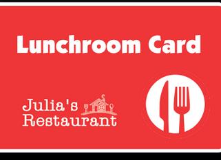 Julia's Lunchroom Card