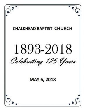 CBC 125 Years - Homecoming Program