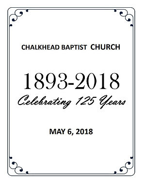 CBC 125 Years - Homecoming Program