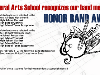 We are so proud of the following PLAS Band Members...