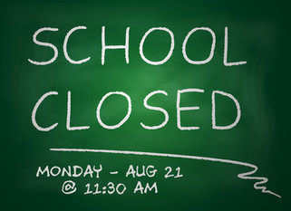 PLAS will close on Monday (Aug 21) at 11:30 am