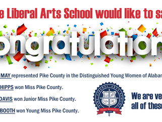 Congratulations to the following PLAS students...