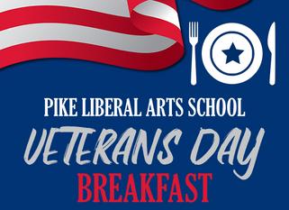 VETERANS DAY BREAKFAST...We salute our Veterans!