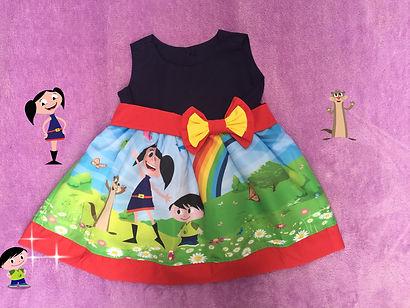 Vestido Temático Show da Luna para festa vários tamanhos