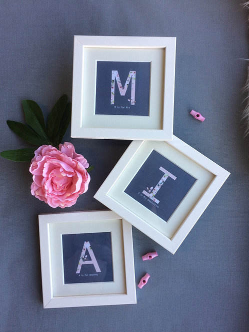 Alphabet miniture frames