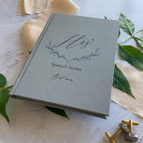 A6 Best man Speech Notebook